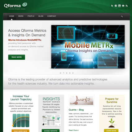 Qforma Corporate Website and Blog